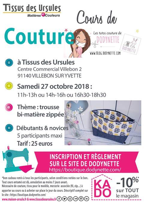 Atelier Couture Chez Tissus Des Ursules 91 Samedi 27 Octobre Les Tutos Couture De Dodynette