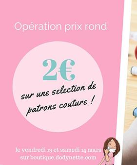 promo patrons couture à 2€