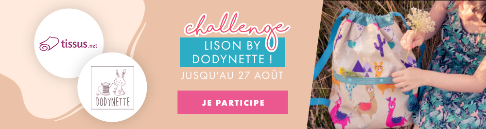 challenge couture sac à dos Lison Dodynette