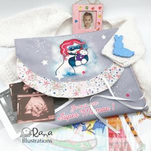 pochette super maman projet couture fête des mères