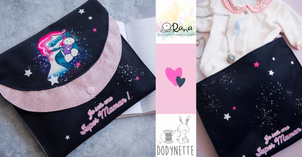 pochette super maman projet couture de la fête des mères