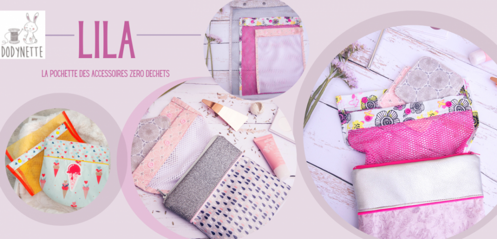 lila pochette zero dechet à coudre patron couture
